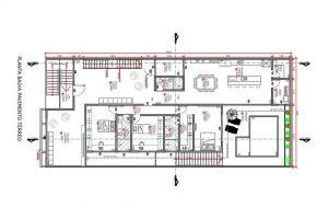 planta com 3 quartos projeto EA-127