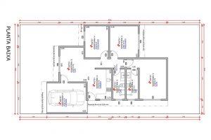 planta com 3 quartos projeto EA-126