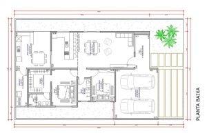 planta com 2 quartos projeto EA-144