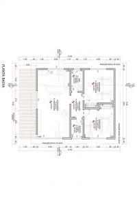 planta com 2 quartos projeto EA-146