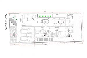 planta com 3 quartos projeto EA-148