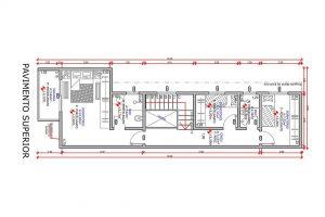 planta de casa sobrado com 3 quartos projeto EA-130