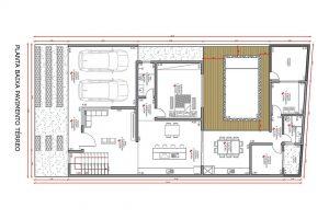 planta com 3 quartos projeto EA-139