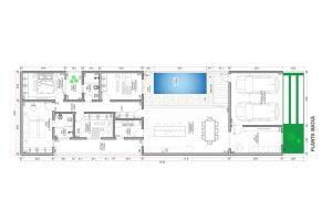 planta com 4 quartos projeto EA-116