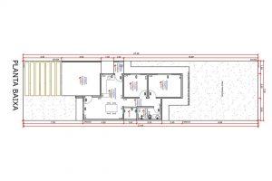 planta com 2 quartos projeto EA-142